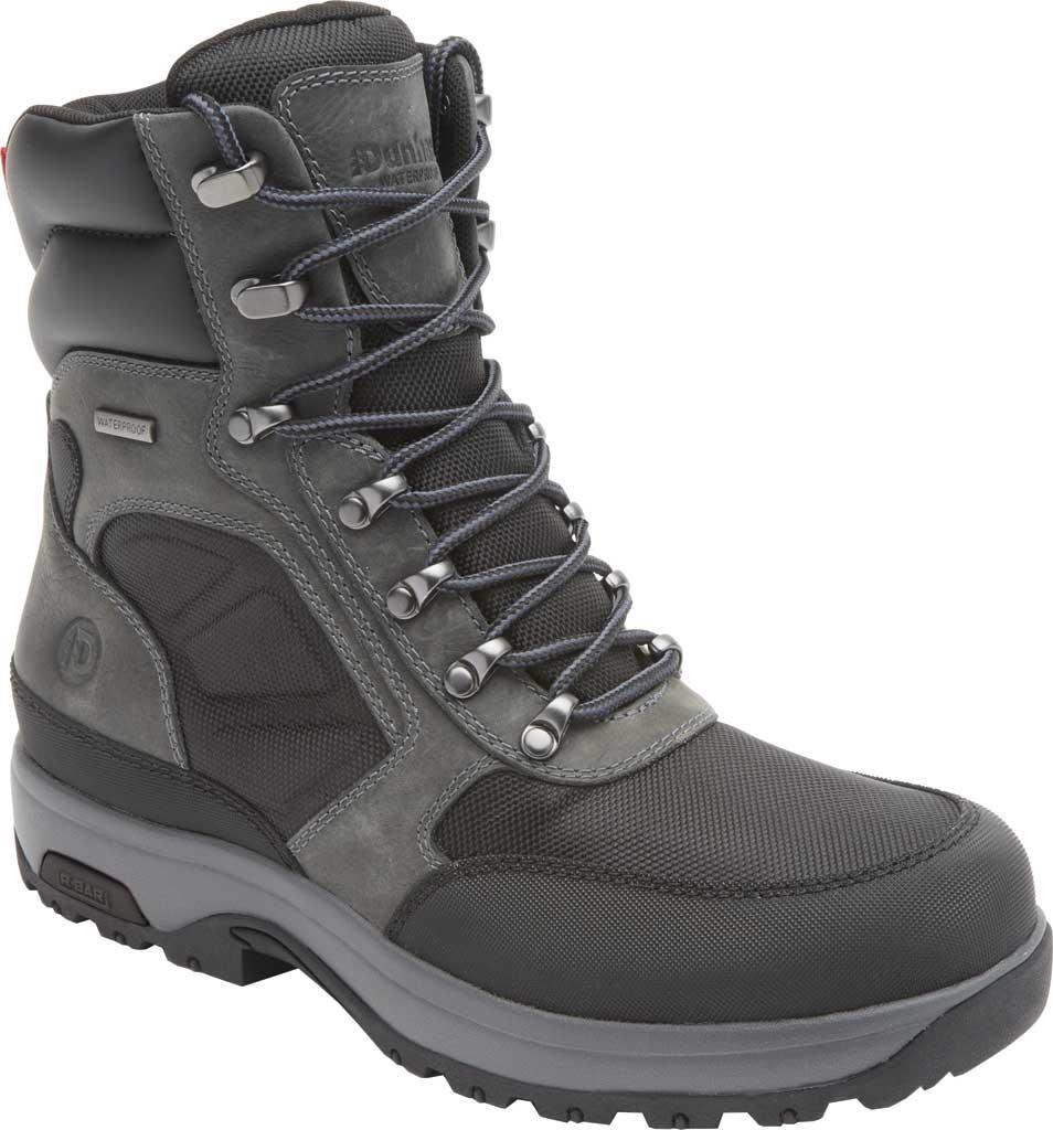 "Men's Dunham 8000WORKS 8"" U-Bal Work Boot, Black/Castlerock Leather, large, image 1"