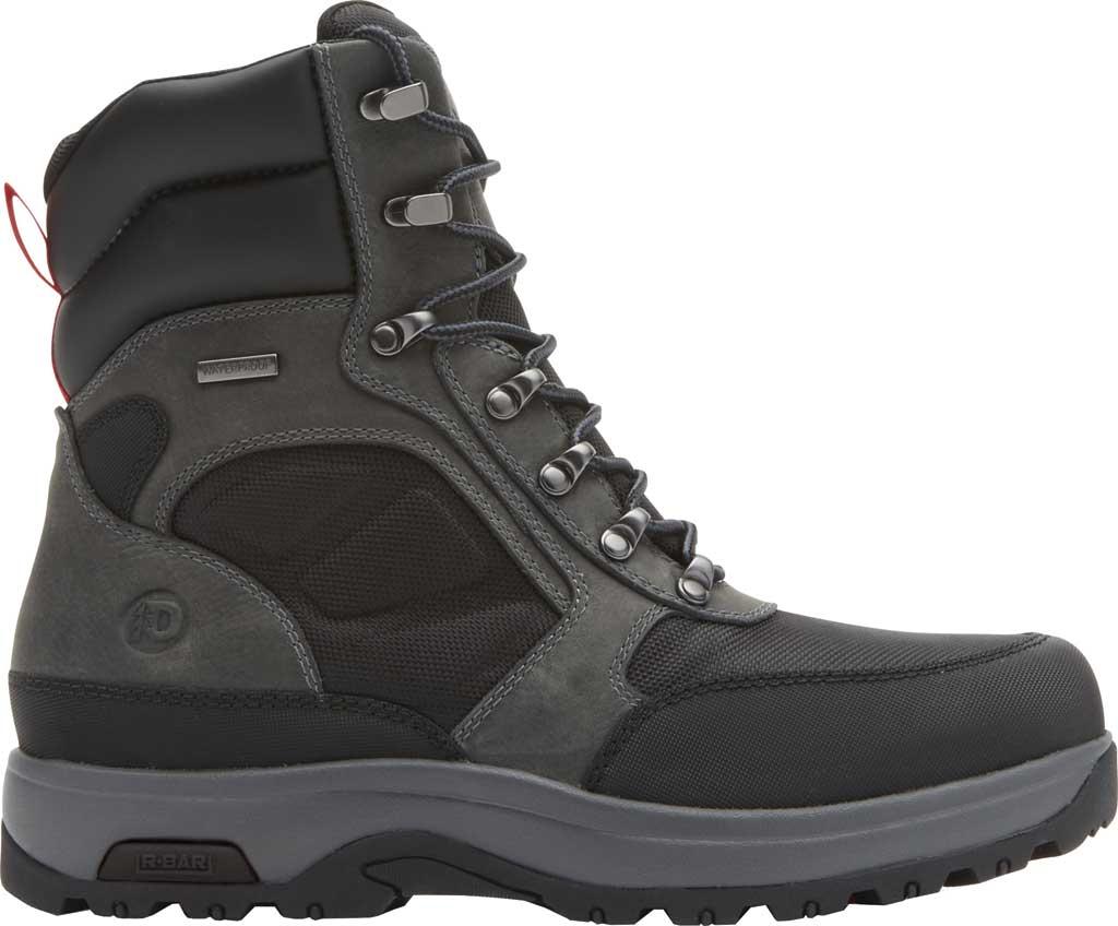 "Men's Dunham 8000WORKS 8"" U-Bal Work Boot, Black/Castlerock Leather, large, image 2"