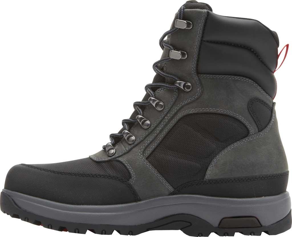 "Men's Dunham 8000WORKS 8"" U-Bal Work Boot, Black/Castlerock Leather, large, image 3"