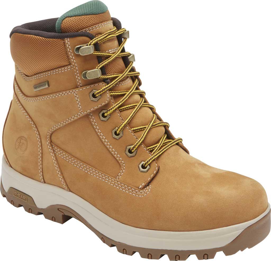 "Men's Dunham 8000WORKS 6"" Plain Toe Work Boot, Wheat Nubuck, large, image 1"
