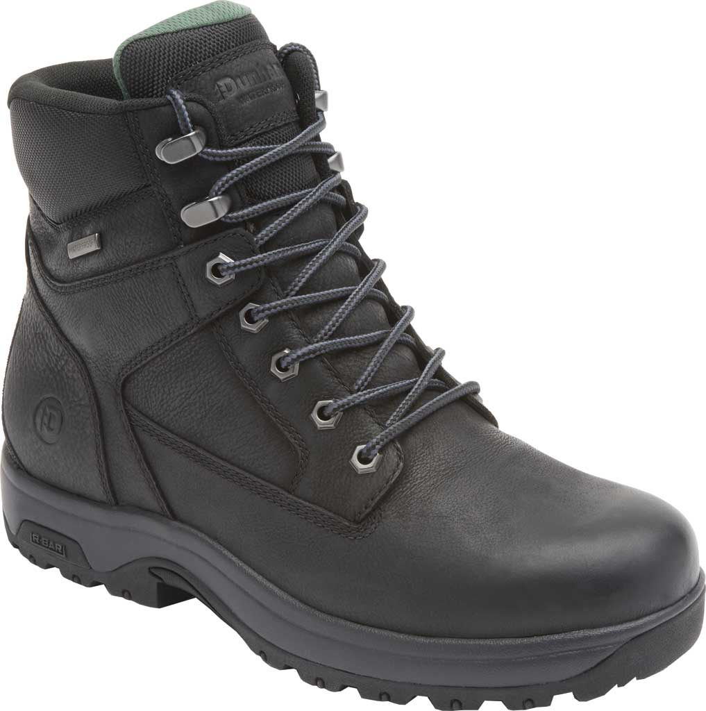 "Men's Dunham 8000WORKS 6"" Plain Toe Work Boot, Black Leather, large, image 1"