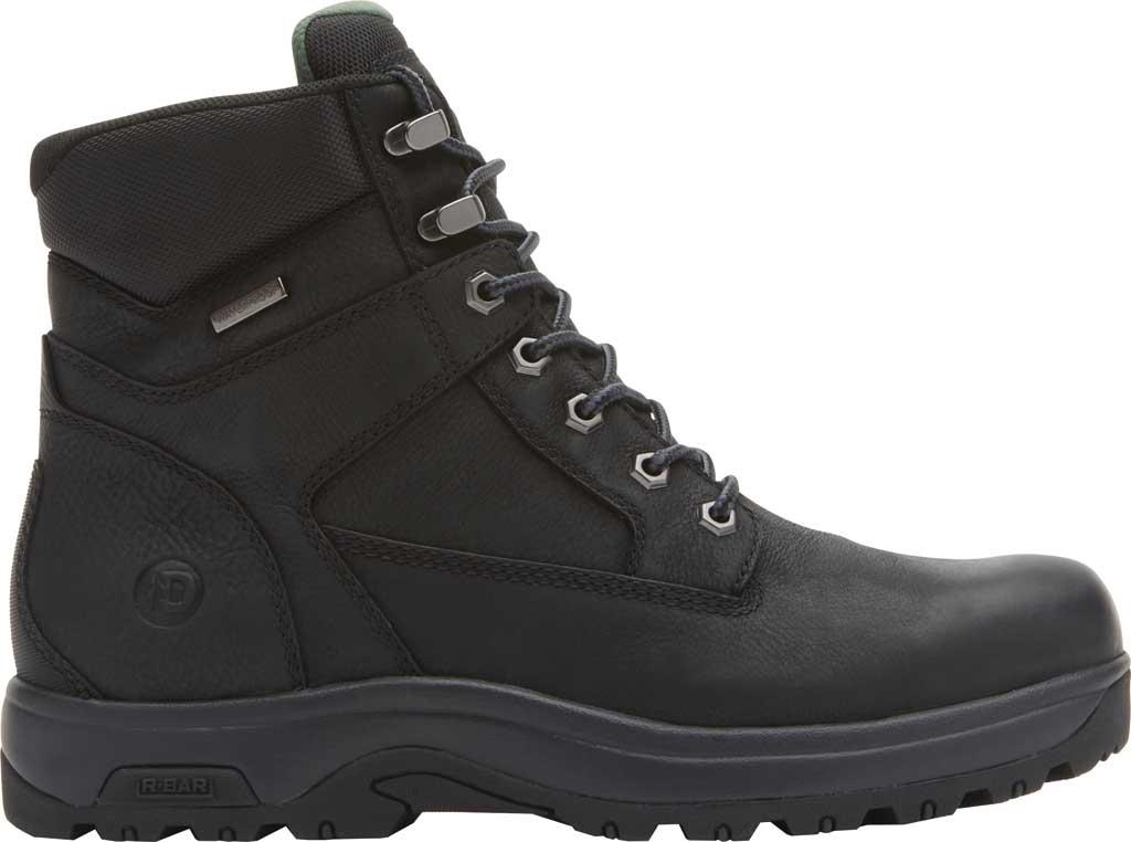 "Men's Dunham 8000WORKS 6"" Plain Toe Work Boot, Black Leather, large, image 2"