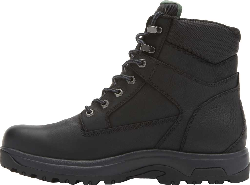 "Men's Dunham 8000WORKS 6"" Plain Toe Work Boot, Black Leather, large, image 3"