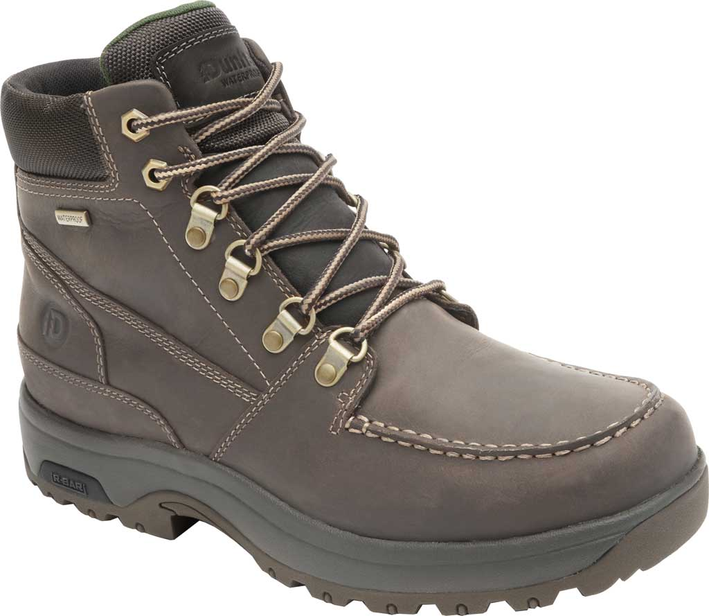 Men's Dunham 8000 WORKS Moc Toe Work Boot, Brown Leather, large, image 1