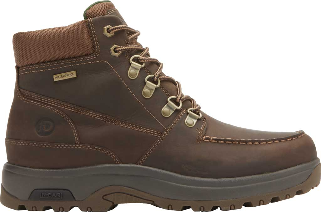 Men's Dunham 8000 WORKS Moc Toe Work Boot, Brown Leather, large, image 2