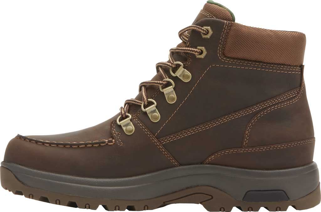 Men's Dunham 8000 WORKS Moc Toe Work Boot, Brown Leather, large, image 3