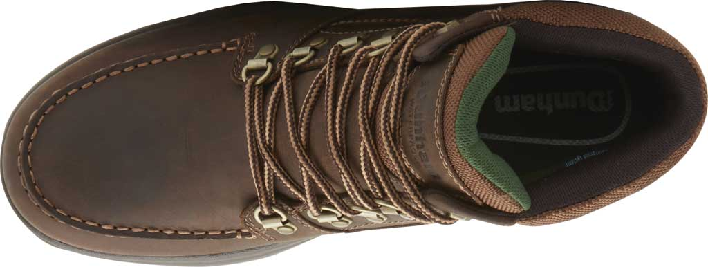 Men's Dunham 8000 WORKS Moc Toe Work Boot, Brown Leather, large, image 4