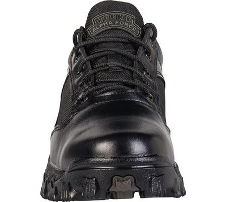 Men's Rocky AlphaForce Oxford 2168, Black Leather, large, image 3