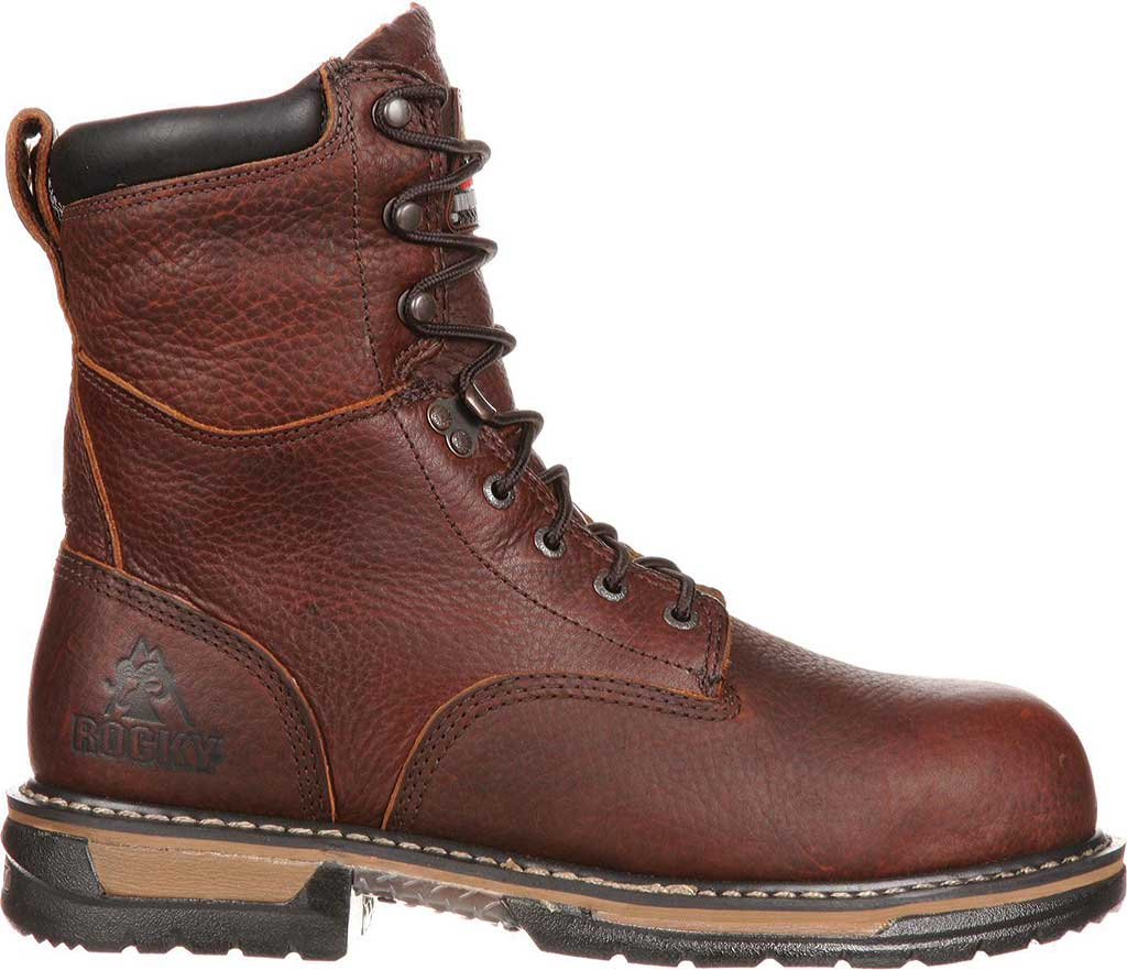 """Men's Rocky 8"""" IronClad 6693 Boot, Bridle Brown Leather, large, image 2"""