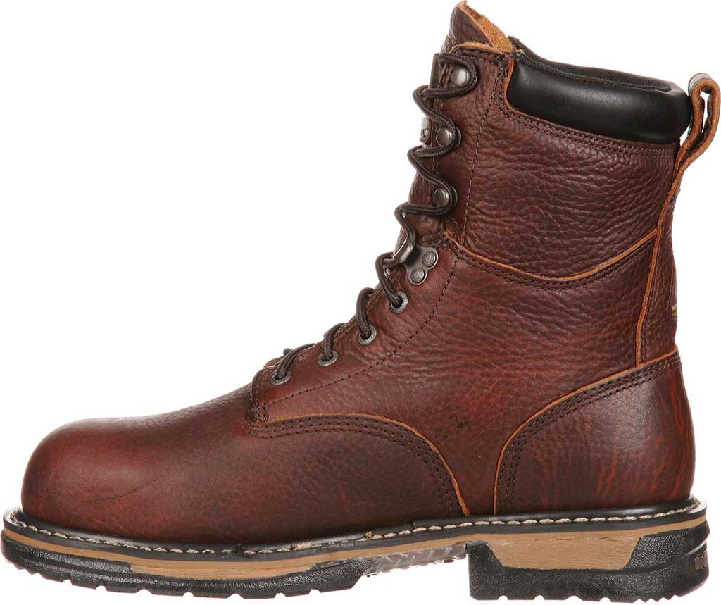 """Men's Rocky 8"""" IronClad 6693 Boot, Bridle Brown Leather, large, image 3"""