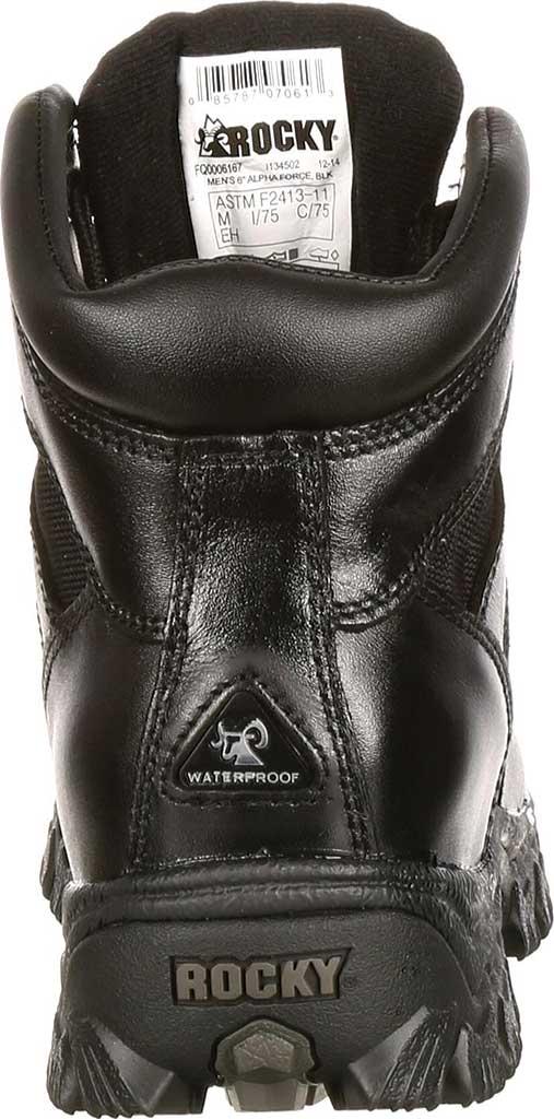 "Men's Rocky 6"" AlphaForce 6167 Boot, Black Leather, large, image 4"
