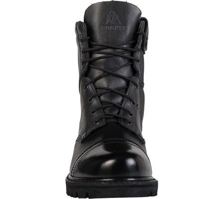 "Men's Rocky Paraboot 7"" Side Zipper Logger Boot 2091, Black Leather, large, image 4"