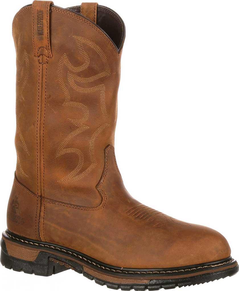 "Men's Rocky 11"" Branson Roper 2733, Aztec Crazy Horse Leather, large, image 1"