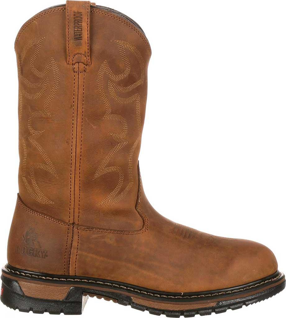 "Men's Rocky 11"" Branson Roper 2733, Aztec Crazy Horse Leather, large, image 2"
