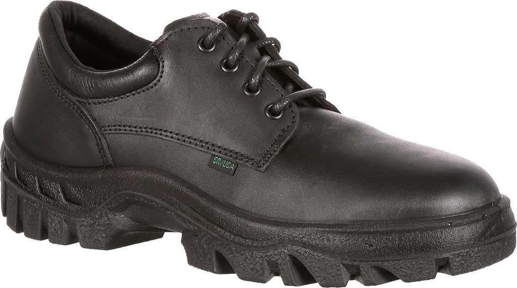 Men's Rocky TMC Plain Toe Oxford 5000, Black Leather, large, image 1