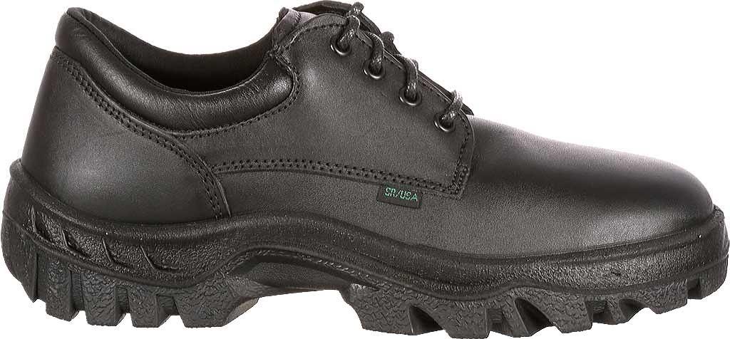 Men's Rocky TMC Plain Toe Oxford 5000, Black Leather, large, image 2