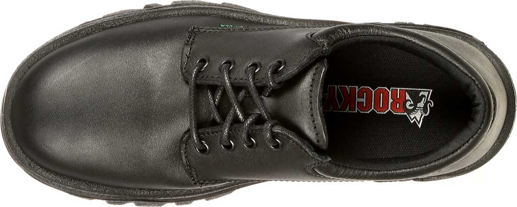 Men's Rocky TMC Plain Toe Oxford 5000, Black Leather, large, image 6