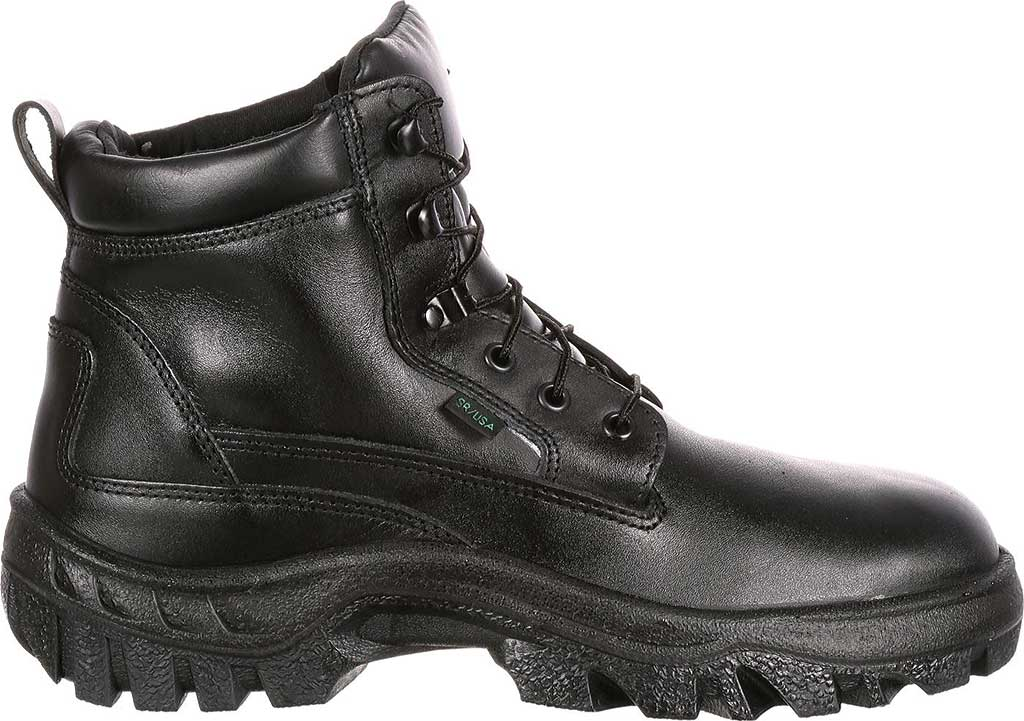 Men's Rocky Robuster Plain Toe Chukka 5019, Black Leather, large, image 2