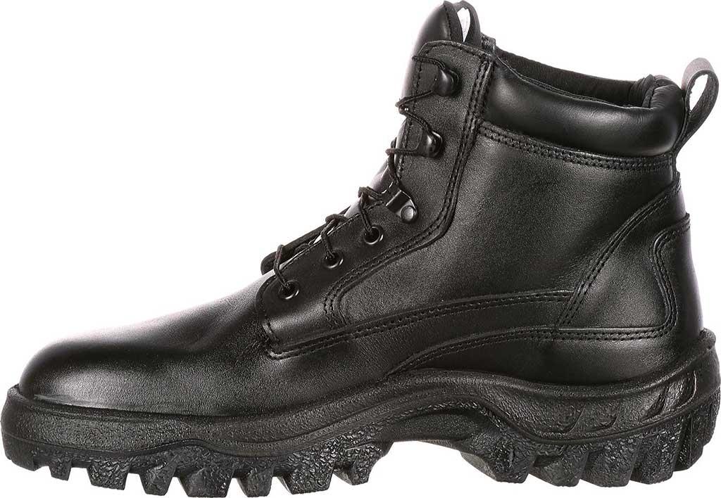 Men's Rocky Robuster Plain Toe Chukka 5019, Black Leather, large, image 3