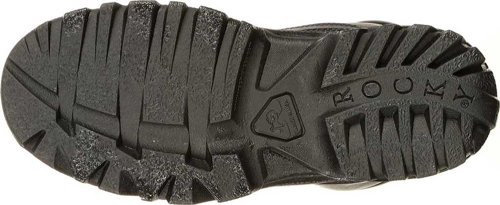 Men's Rocky Robuster Plain Toe Chukka 5019, Black Leather, large, image 5