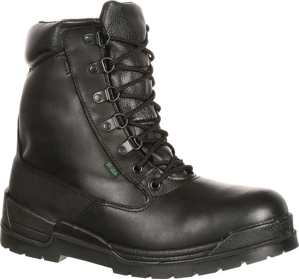 "Men's Rocky 8"" Eliminator 81321, Black Leather, large, image 1"