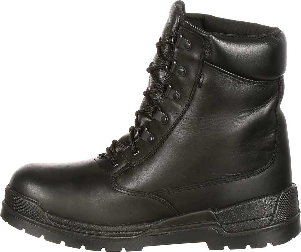 "Men's Rocky 8"" Eliminator 81321, Black Leather, large, image 3"