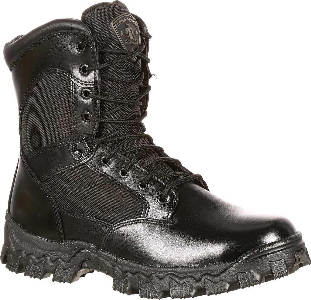 "Men's Rocky 8"" AlphaForce 2165, Black Leather, large, image 1"