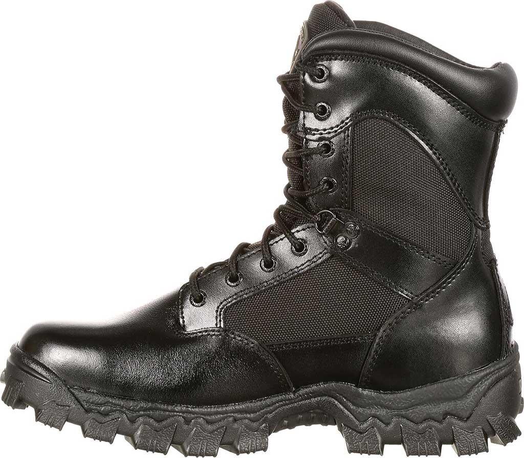 "Men's Rocky 8"" AlphaForce 2165, Black Leather, large, image 2"