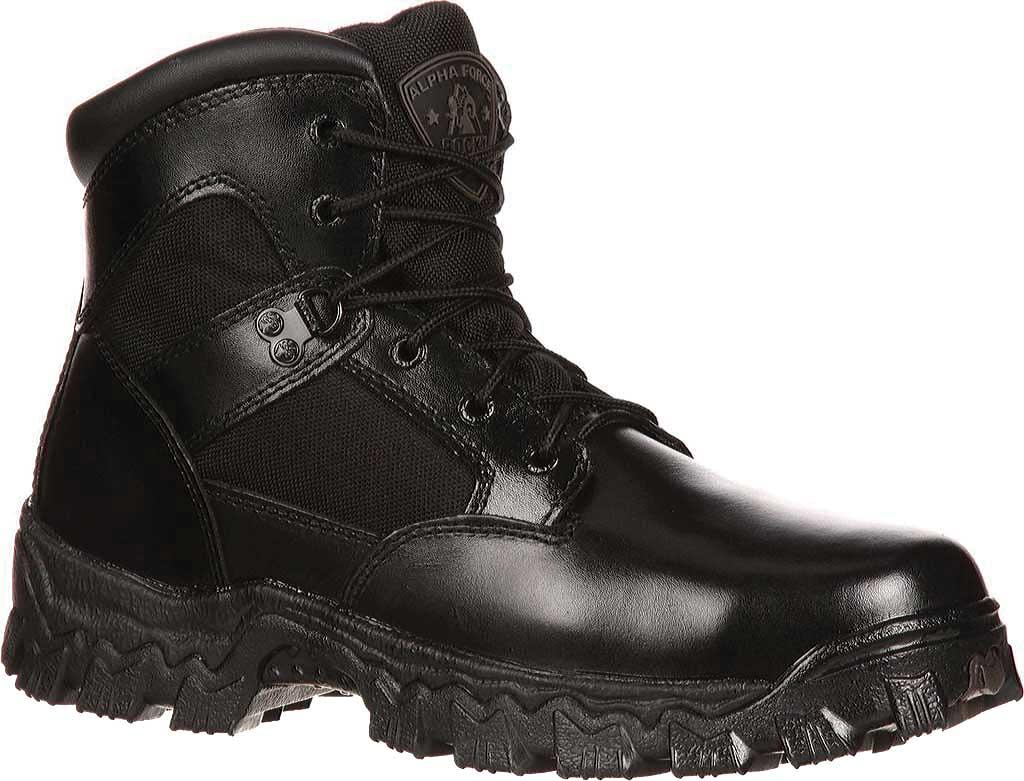 "Men's Rocky 6"" AlphaForce 2167, Black Leather, large, image 1"