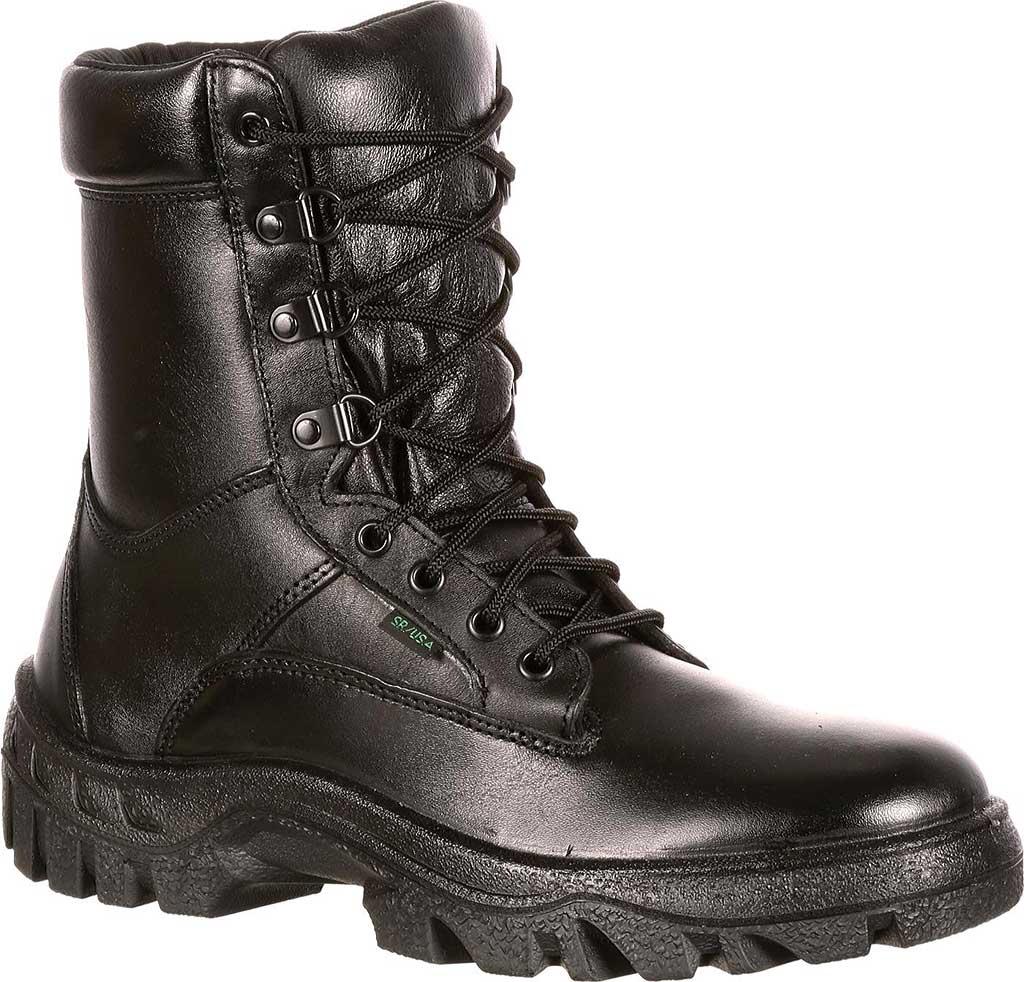 "Men's Rocky 8"" TMC Plain Toe 5010, Black Leather, large, image 1"