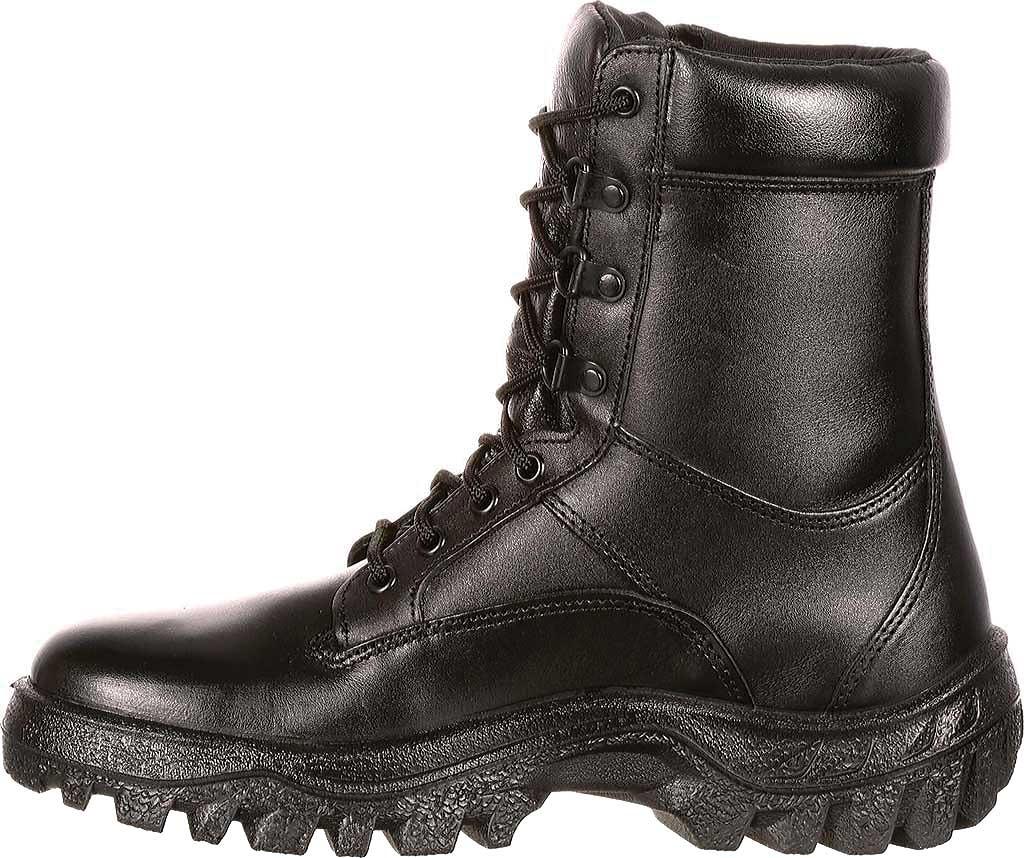 "Men's Rocky 8"" TMC Plain Toe 5010, Black Leather, large, image 3"