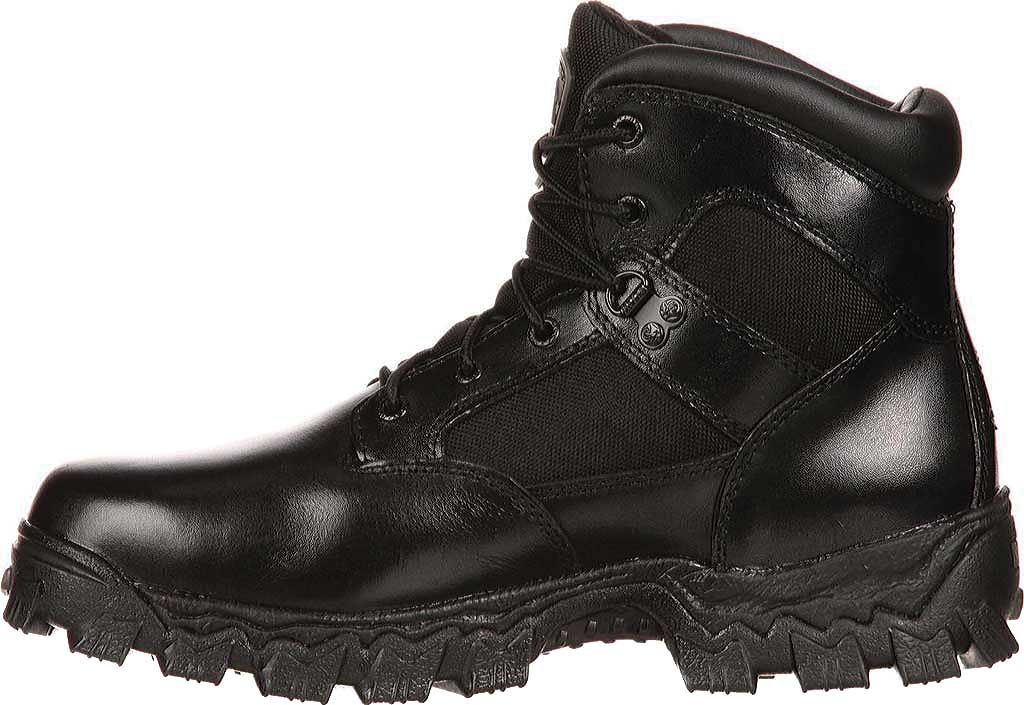 "Women's Rocky AlphaForce 6"" Waterproof Work Boot 4165, Black Leather, large, image 2"