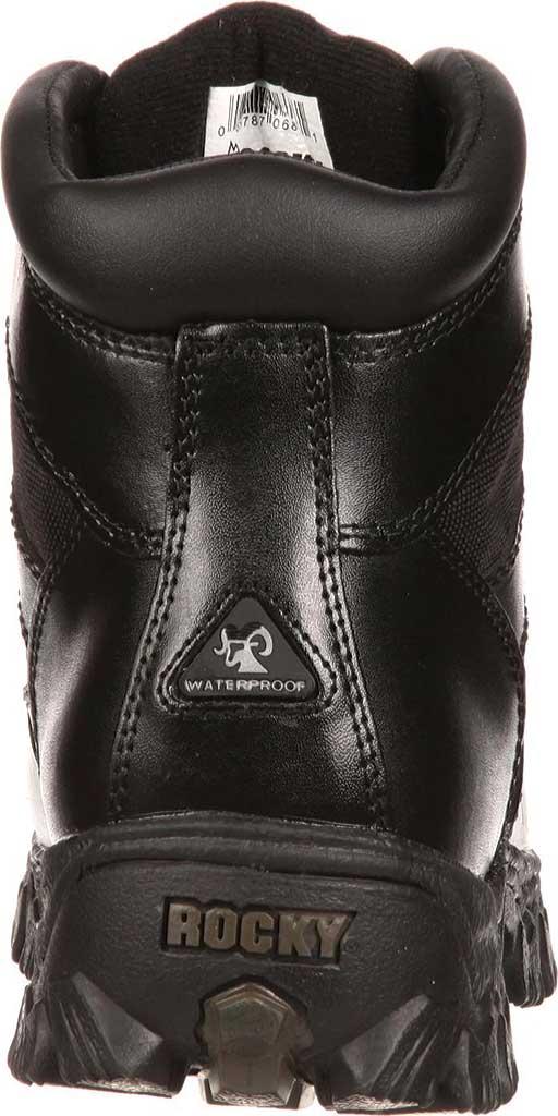 "Women's Rocky AlphaForce 6"" Waterproof Work Boot 4165, Black Leather, large, image 3"