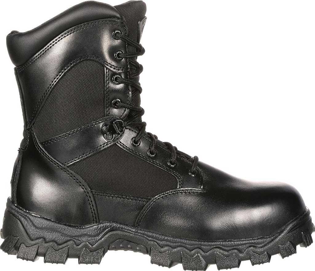 "Men's Rocky 8"" AlphaForce Zipper 2173, Black Leather, large, image 2"