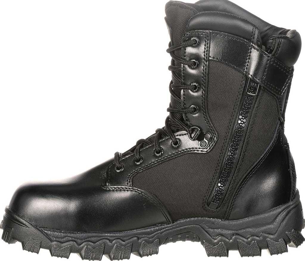 "Men's Rocky 8"" AlphaForce Zipper 2173, Black Leather, large, image 3"