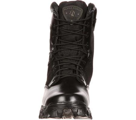 "Men's Rocky 8"" AlphaForce Zipper 2173, Black Leather, large, image 4"