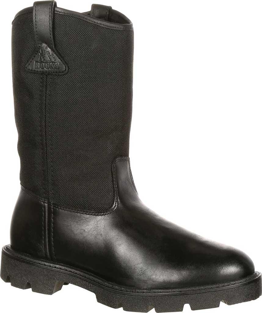 "Men's Rocky Wellington 10"" Work Boot 6300, Black Cordura, large, image 1"