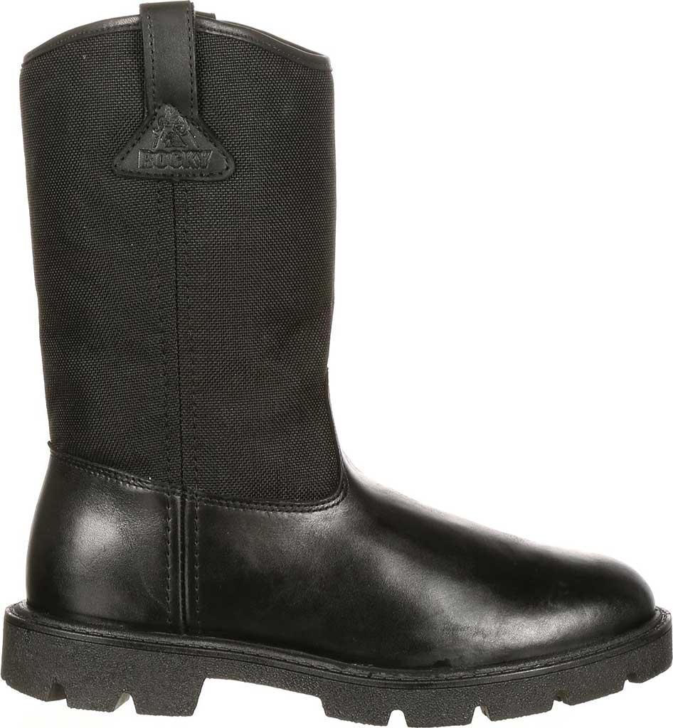 "Men's Rocky Wellington 10"" Work Boot 6300, Black Cordura, large, image 2"