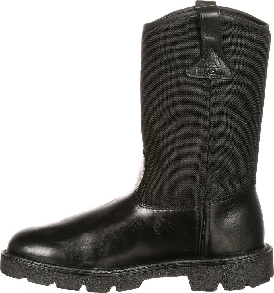 "Men's Rocky Wellington 10"" Work Boot 6300, Black Cordura, large, image 3"