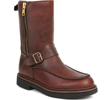Men's Georgia Boot G41 Waterproof Side Zip Moc Toe Wellington Boot, Copper Kettle Soggy Leather, large, image 1