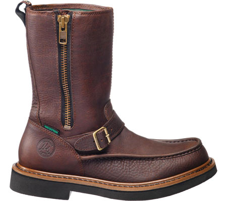 Men's Georgia Boot G41 Waterproof Side Zip Moc Toe Wellington Boot, Copper Kettle Soggy Leather, large, image 2