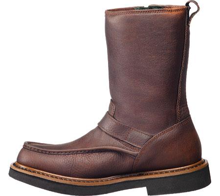Men's Georgia Boot G41 Waterproof Side Zip Moc Toe Wellington Boot, Copper Kettle Soggy Leather, large, image 3
