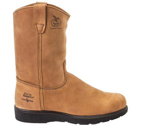 "Men's Georgia Boot G44 11"" Comfort Core Wellington Boot, Tan Cheyenne SPR Leather, large, image 2"