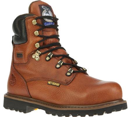 "Men's Georgia Boot G83 8"" Metatarsal Comfort Core Welt Work Boot, Greasy Briar Full Grain Leather, large, image 1"