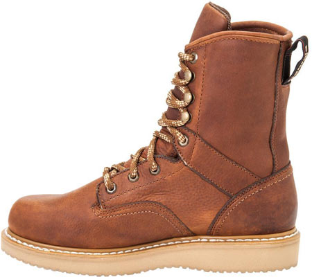 """Men's Georgia Boot G83 8"""" Wedge Safety Toe Work Boot, Gold Coast Barracuda SPR Leather, large, image 3"""