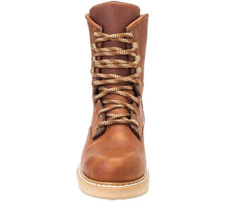 """Men's Georgia Boot G83 8"""" Wedge Safety Toe Work Boot, Gold Coast Barracuda SPR Leather, large, image 4"""