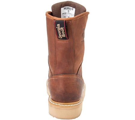 """Men's Georgia Boot G83 8"""" Wedge Safety Toe Work Boot, Gold Coast Barracuda SPR Leather, large, image 5"""