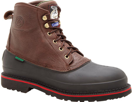 "Men's Georgia Boot G66 6"" MUDDOG Comfort Core Safety Toe Work Boot, Chocolate Full Grain Leather, large, image 1"