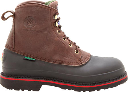 "Men's Georgia Boot G66 6"" MUDDOG Comfort Core Safety Toe Work Boot, Chocolate Full Grain Leather, large, image 2"