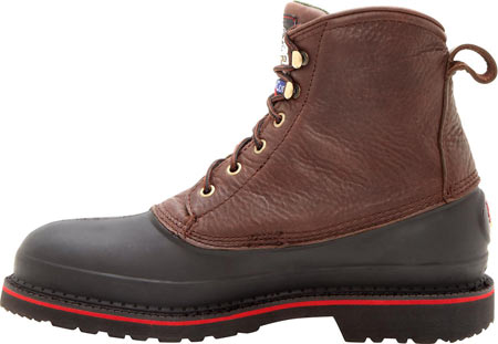 "Men's Georgia Boot G66 6"" MUDDOG Comfort Core Safety Toe Work Boot, Chocolate Full Grain Leather, large, image 3"